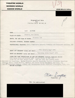 ALAN ZAMPESE - TYPED RESUME SIGNED