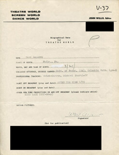 Autographs: WARD ASQUITH - TYPED RESUME SIGNED