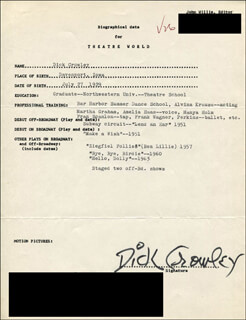 DICK CROWLEY - TYPED RESUME SIGNED