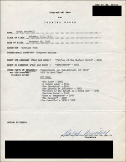 RALPH DRISCHELL - TYPED RESUME SIGNED