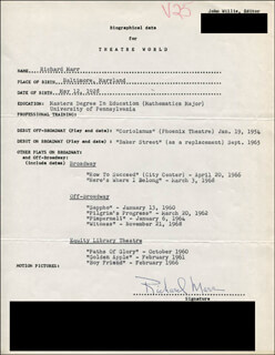 RICHARD MARR - TYPED RESUME SIGNED