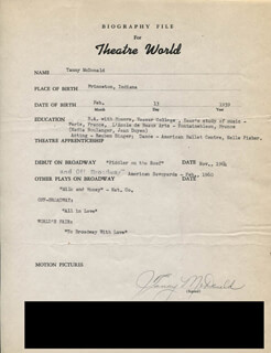 TANNY MCDONALD - TYPED RESUME SIGNED