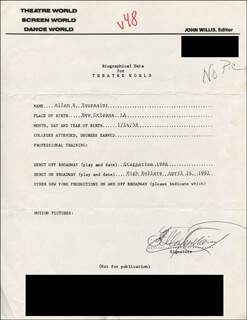 ALLEN R. TOUSSAINT - TYPED RESUME SIGNED