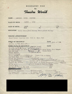 LAWRENCE FLETCHER - TYPED RESUME SIGNED
