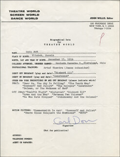 CARL DON - TYPED RESUME SIGNED