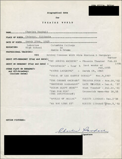 CHARLES RANDALL - TYPED RESUME SIGNED