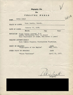 PETER DONAT - TYPED RESUME SIGNED