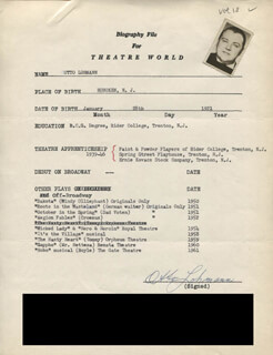 OTTO LOHMANN - TYPED RESUME SIGNED