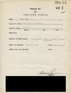 DIANA LYNN - TYPED RESUME SIGNED