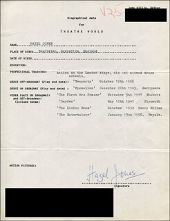HAZEL JONES - TYPED RESUME SIGNED
