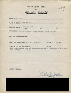 RICHARD JORDAN - TYPED RESUME SIGNED