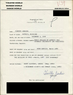 TIMOTHY JENKINS - TYPED RESUME SIGNED