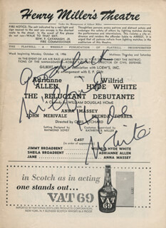 WILFRID HYDE-WHITE - SHOW BILL SIGNED