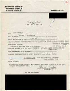 ROBIN TAYLOR - TYPED RESUME SIGNED