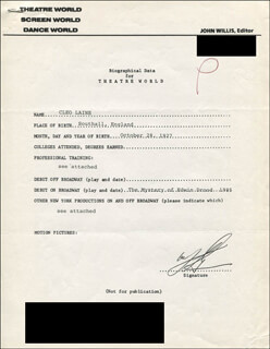 CLEO LAINE - TYPED RESUME SIGNED