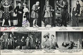 Autographs: EVA LE GALLIENNE - MAGAZINE PHOTOGRAPH SIGNED CO-SIGNED BY: BRENDA FORBES, BETTY GARRETT, VICTOR JORY, RAY MIDDLETON, ROBERT ALLEN