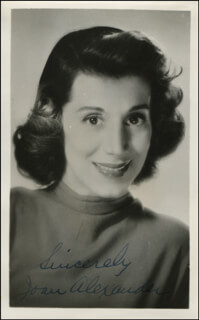 JOAN ALEXANDER - AUTOGRAPHED SIGNED PHOTOGRAPH
