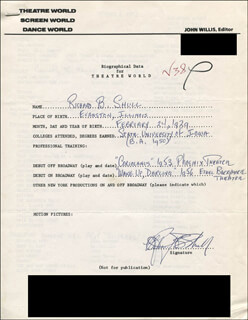 RICHARD B. SHULL - AUTOGRAPH RESUME SIGNED