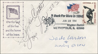 SUPERMAN TV CAST - ENVELOPE SIGNED CO-SIGNED BY: PHYLLIS COATES, JACK LARSON