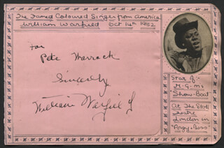 WILLIAM WARFIELD - AUTOGRAPH NOTE SIGNED CIRCA 1952