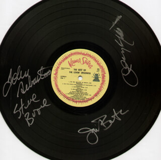 LOVIN' SPOONFUL - RECORD SIGNED CO-SIGNED BY: LOVIN' SPOONFUL (JOHN SEBASTIAN), LOVIN' SPOONFUL (JOE BUTLER), LOVIN' SPOONFUL (STEVE BOONE), LOVIN' SPOONFUL (JERRY YESTER)
