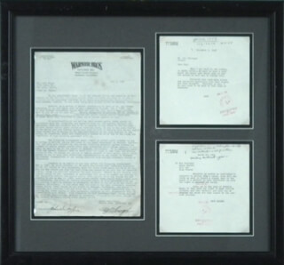 JOHN DUKE WAYNE - DOCUMENT SIGNED 05/05/1950 CO-SIGNED BY: ROY OBRINGER