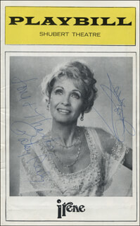 Autographs: IRENE PLAY CAST - SHOW BILL SIGNED CO-SIGNED BY: PATSY KELLY, JANE POWELL