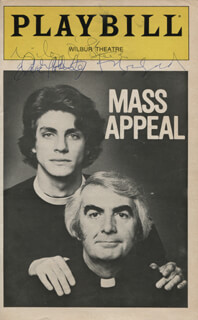MASS APPEAL PLAY CAST - SHOW BILL SIGNED CO-SIGNED BY: GERALDINE FITZGERALD, MILO O'SHEA, ERIC ROBERTS