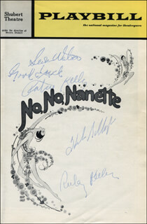 NO NO NANETTE PLAY CAST - SHOW BILL SIGNED CO-SIGNED BY: PATSY KELLY, RUBY KEELER, HELEN GALLAGHER, SUSAN WATSON