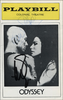 ODYSSEY PLAY CAST - SHOW BILL SIGNED CO-SIGNED BY: YUL BRYNNER, JOAN DIENER