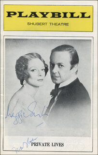 PRIVATE LIVES PLAY CAST - SHOW BILL SIGNED CO-SIGNED BY: DAME MAGGIE SMITH, NIKI FLACKS