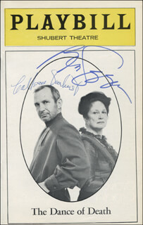 THE DANCE OF DEATH PLAY CAST - SHOW BILL SIGNED CO-SIGNED BY: COLLEEN DEWHURST, BEN GAZZARA