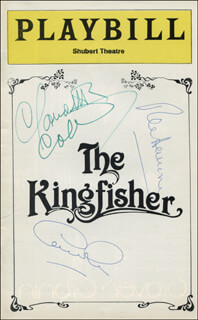 THE KINGFISHER PLAY CAST - SHOW BILL SIGNED CO-SIGNED BY: GEORGE ROSE, CLAUDETTE COLBERT, REX HARRISON