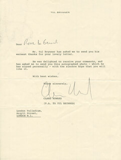 CLARE HOWARD - TYPED LETTER SIGNED