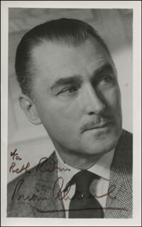Autographs: BRIAN AHERNE - INSCRIBED PHOTOGRAPH SIGNED