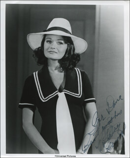 VALERIE PERRINE - INSCRIBED PRINTED PHOTOGRAPH SIGNED IN INK