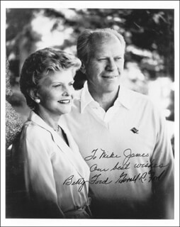 PRESIDENT GERALD R. FORD - AUTOGRAPHED INSCRIBED PHOTOGRAPH CO-SIGNED BY: FIRST LADY BETTY FORD