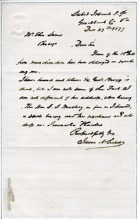 JAMES A. SEDDON - AUTOGRAPH LETTER SIGNED 12/29/1879