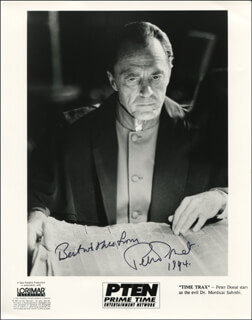 PETER DONAT - AUTOGRAPHED SIGNED PHOTOGRAPH 1994