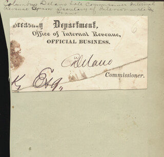 Autographs: COLUMBUS DELANO - CLIPPED SIGNATURE