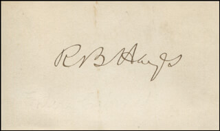 Autographs: PRESIDENT RUTHERFORD B. HAYES - COLLECTION WITH CHARLES DEVENS, GEORGE W. McCRARY, MAJOR GENERAL CARL SCHURZ, JOHN SHERMAN, WILLIAM M. EVARTS, VICE PRESIDENT WILLIAM A. WHEELER, DAVID M. KEY