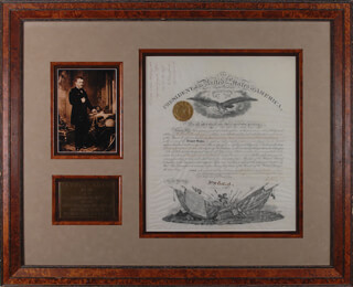 Autographs: PRESIDENT GRANT'S APPOINTMENT OF FELLOW CIVIL WAR GENERAL JUDSON BINGHAM AS DEPUTY ADJUTANT GENERAL, ACCOMPANIED BY AN OFFICIAL LETTER SIGNED BY BINGHAM HIMSELF