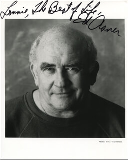 ED ASNER - AUTOGRAPHED INSCRIBED PHOTOGRAPH