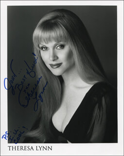 THERESA LYNN - AUTOGRAPHED INSCRIBED PHOTOGRAPH