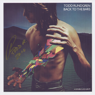 TODD RUNDGREN - PRINTED PHOTOGRAPH SIGNED IN INK