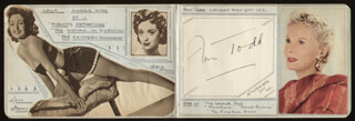 ANN TODD - AUTOGRAPH CIRCA 1951 CO-SIGNED BY: RONA ANDERSON