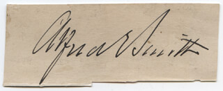 ALFRED E. SMITH - CLIPPED SIGNATURE