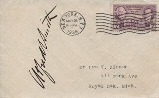 ALFRED E. SMITH - ENVELOPE SIGNED CIRCA 1936