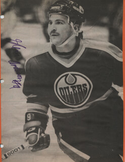GLENN ANDERSON - NEWSPAPER PHOTOGRAPH SIGNED