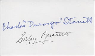 SMILEY (LESTER) BURNETTE - AUTOGRAPH CO-SIGNED BY: CHARLES DURANGO STARRETT - HFSID 311269